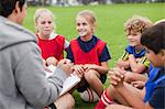 Coach talking to childrens soccer team Stock Photo - Premium Royalty-Free, Artist: Cusp and Flirt, Code: 649-06040313