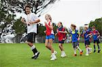 Coach training children on field Stock Photo - Premium Royalty-Free, Artist: ableimages, Code: 649-06040318