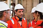 Workers talking at oil refinery Stock Photo - Premium Royalty-Free, Artist: Marc Simon, Code: 649-06040385