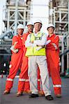 Workers standing at oil refinery Stock Photo - Premium Royalty-Free, Artist: Marc Simon, Code: 649-06040405