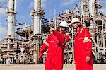 Workers talking at oil refinery Stock Photo - Premium Royalty-Free, Artist: Marc Simon, Code: 649-06040451