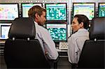People working in security control room Stock Photo - Premium Royalty-Free, Artist: CulturaRM, Code: 649-06040501