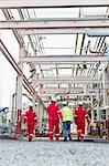 Workers walking at chemical plant Stock Photo - Premium Royalty-Free, Artist: Marc Simon, Code: 649-06040552