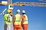 Workers talking at construction site Stock Photo - Premium Royalty-Free, Artist: Thomas Kokta, Code: 649-06040718