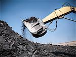 Digger scooping coal at mine Stock Photo - Premium Royalty-Free, Artist: Photocuisine, Code: 649-06041509