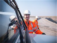 Workers with equipment in coal mine Stock Photo - Premium Royalty-Freenull, Code: 649-06041529