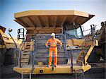 Worker on equipment in coal mine Stock Photo - Premium Royalty-Free, Artist: Lloyd Sutton, Code: 649-06041535