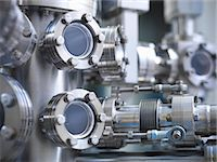pipe (industry) - Close up of vacuum chamber in lab Stock Photo - Premium Royalty-Freenull, Code: 649-06041551