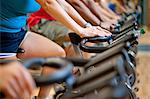 People using spin machines in gym Stock Photo - Premium Royalty-Free, Artist: CulturaRM, Code: 649-06041968