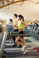 fitness older women gym - People using treadmills in gym Stock Photo - Premium Royalty-Freenull, Code: 649-06042025