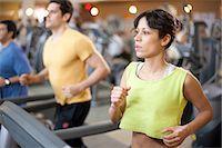 fitness older women gym - People using treadmills in gym Stock Photo - Premium Royalty-Freenull, Code: 649-06042026