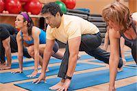 fitness older women gym - People practicing yoga in studio Stock Photo - Premium Royalty-Freenull, Code: 649-06042046