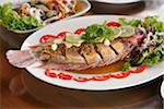 Steamed Thai style fish with lime and herbs Stock Photo - Premium Royalty-Free, Artist: Asia Images, Code: 6106-06042580