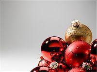 Baubles, studio shot Stock Photo - Premium Royalty-Freenull, Code: 614-06044147