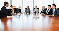Business people meeting at table in conference room Stock Photo - Premium Royalty-Freenull, Code: 635-06045031