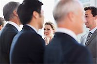 Business people talking face to face Stock Photo - Premium Royalty-Freenull, Code: 635-06045082