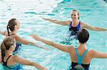 Women taking water aerobics class Stock Photo - Premium Royalty-Freenull, Code: 635-06045281