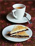 Cup of coffee and chocolate sandwich Stock Photo - Premium Rights-Managed, Artist: Photocuisine, Code: 825-06045833
