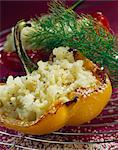 Peppers stuffed with eggplant risotto Stock Photo - Premium Rights-Managed, Artist: Photocuisine, Code: 825-06046015