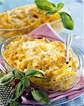 Goat's cheese and mountain ham macaronis cheese-topped dish Stock Photo - Premium Rights-Managed, Artist: Photocuisine, Code: 825-06046249