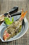 Red mullet in vine leaves Stock Photo - Premium Rights-Managed, Artist: Photocuisine, Code: 825-06046311