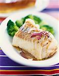 Steam-cooked cod with sesame seeds and red onion Stock Photo - Premium Rights-Managed, Artist: Photocuisine, Code: 825-06046337