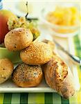 Assorted individual breads Stock Photo - Premium Rights-Managed, Artist: Photocuisine, Code: 825-06046393