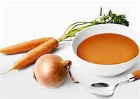 Carrot soup Stock Photo - Premium Rights-Managednull, Code: 825-06047083