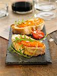 Chistorra and Aioli open sandwich Stock Photo - Premium Rights-Managed, Artist: Photocuisine, Code: 825-06047707