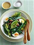 Lettuce,green bean,hard-boiled egg and walnut salad Stock Photo - Premium Rights-Managed, Artist: Photocuisine, Code: 825-06047913