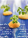 Shortbread cookies with lamb's lettuce sprouts Stock Photo - Premium Rights-Managed, Artist: Photocuisine, Code: 825-06048247