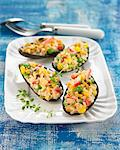 Mussels stuffed with corn and rice Stock Photo - Premium Rights-Managed, Artist: Photocuisine, Code: 825-06048262