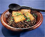 Lentils with miso and tofu Stock Photo - Premium Rights-Managed, Artist: Photocuisine, Code: 825-06048766