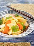 White radish and carrot salad Stock Photo - Premium Rights-Managed, Artist: Photocuisine, Code: 825-06049483