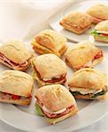 Assorted sandwiches Stock Photo - Premium Rights-Managed, Artist: Photocuisine, Code: 825-06049507