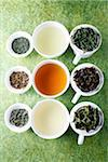 Assorted green teas Stock Photo - Premium Rights-Managed, Artist: Photocuisine, Code: 825-06049673