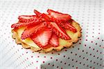 Strawberry tartlet Stock Photo - Premium Rights-Managed, Artist: Photocuisine, Code: 825-06049710