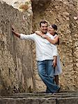 Italy, Ravello, Mature couple posing in narrow lane Stock Photo - Premium Royalty-Freenull, Code: 640-06050090