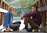 Long boarding couple Stock Photo - Premium Royalty-Free, Artist: Aurora Photos, Code: 640-06050356
