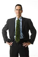 businessman with a tie made of grass Stock Photo - Premium Royalty-Freenull, Code: 640-06051222