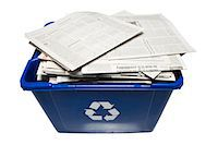recycling bin Stock Photo - Premium Royalty-Freenull, Code: 640-06051265