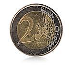 2 Euro coin Stock Photo - Premium Royalty-Free, Artist: Blend Images, Code: 640-06051291