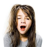 girl waking up in the morning Stock Photo - Premium Royalty-Freenull, Code: 640-06051687