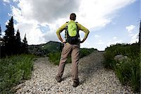 fork - hiker choosing which path to take Stock Photo - Premium Royalty-Freenull, Code: 640-06052045