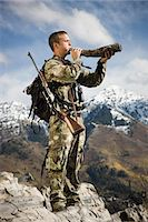 man hunting in the wilderness Stock Photo - Premium Royalty-Freenull, Code: 640-06052095