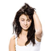 woman just waking up Stock Photo - Premium Royalty-Freenull, Code: 640-06052135