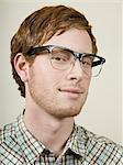 man with glasses Stock Photo - Premium Royalty-Free, Artist: Transtock, Code: 640-06052237