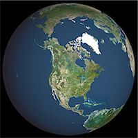 Satellite View of World Globe featuring North America Stock Photo - Premium Rights-Managednull, Code: 872-06052704
