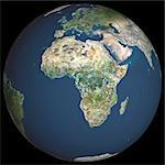 Satellite View of World Globe featuring Africa Stock Photo - Premium Rights-Managed, Artist: Universal Images Group, Code: 872-06052708