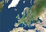 Satellite View of Europe Stock Photo - Premium Rights-Managed, Artist: Universal Images Group, Code: 872-06052711